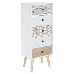 Bizzotto 0745289 - Vicky Chest of drawers in wood 5 drawers