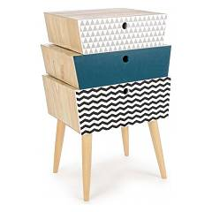 Bizzotto 0744548 - Barnaby Chest of drawers wooden swivel 3 drawers