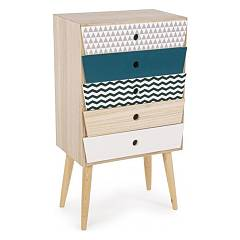 Bizzotto 0744549 - Barnaby Chest of drawers in wood 5 drawers
