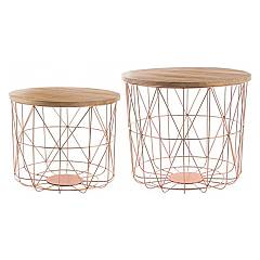 Bizzotto 0746057 - Mariam Set of 2 tables: round container