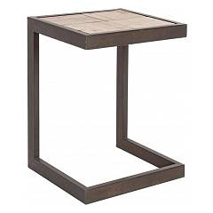 Bizzotto 0740254 Stool in iron and wooden sitting h47 Blocks H47