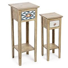 Bizzotto 0744835 Set 2 lamp holder tables Roxet