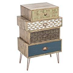 Bizzotto 0744841 - Roxet Chest of drawers wood 4 drawer
