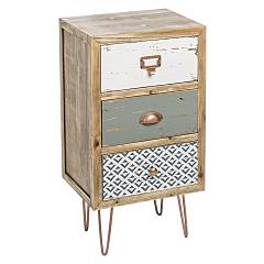 Bizzotto 0744839 - Roxet Chest of drawers wood 3 drawers