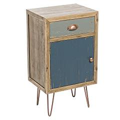 Bizzotto 0744838 Wooden bedside with 1 door and 1 drawer Roxet