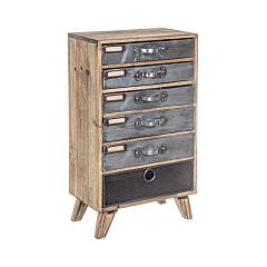 Bizzotto 0730059 - Officina Chest of drawers-wood-6 drawers