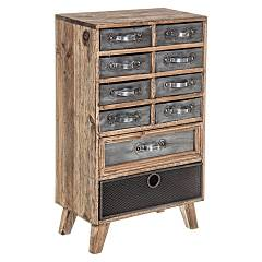 Bizzotto 0730060 - Officina Chest of drawers in wood 10 drawers