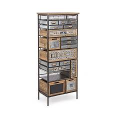 Bizzotto 0730056 - Officina Chest of drawers, iron and wood with 19 drawers