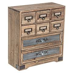 Bizzotto 0730067 - Officina Chest of drawers-wood-8 drawers