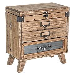 Bizzotto 0730069 - Officina Chest of drawers wood 3 drawers