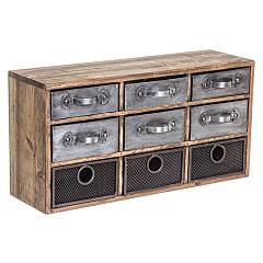 Bizzotto 0730061 - Officina Chest of drawers-wood-9 drawers