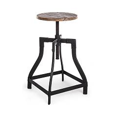 Bizzotto 0746143 Swivel stool adjustable height Revolve