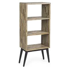 Bizzotto 0745875 Wooden bookcase with 3 shelves Kent