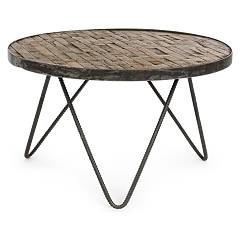 Bizzotto 0745870 Round wood coffee table d. 58 Austin D 58