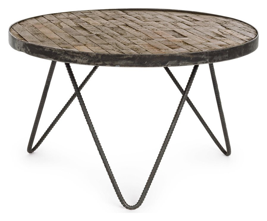 Photos 1: Bizzotto 0745870 Austin D 58 Round wood coffee table d. 58