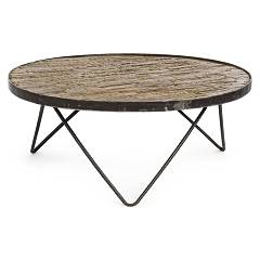 Bizzotto 0745871 Round wooden table d. 74 Austin D 74