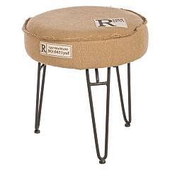Bizzotto 0740242 Fixed round fixed cover in linen Marilyn
