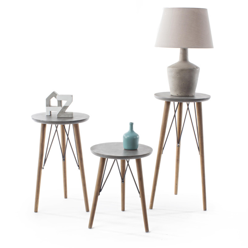 Photos 5: Bizzotto Round wood coffee table d. 40 h. 51 0740243