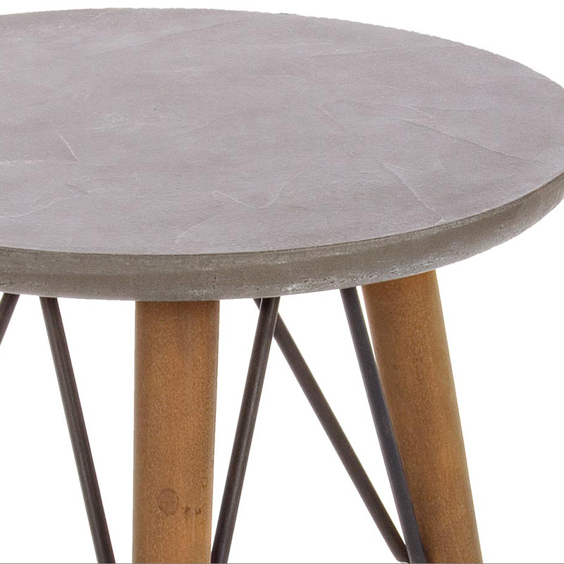 Photos 2: Bizzotto Round wooden table d. 40 h. 66 0740244