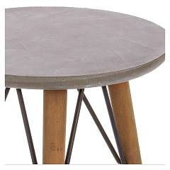 Photos 2: Bizzotto Round wood coffee table d. 40 h. 81 0740245