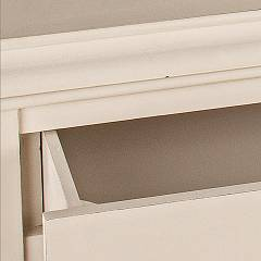 Photos 4: Bizzotto Door lamp in wood l. 49 x 36 with 3 drawers 0745266