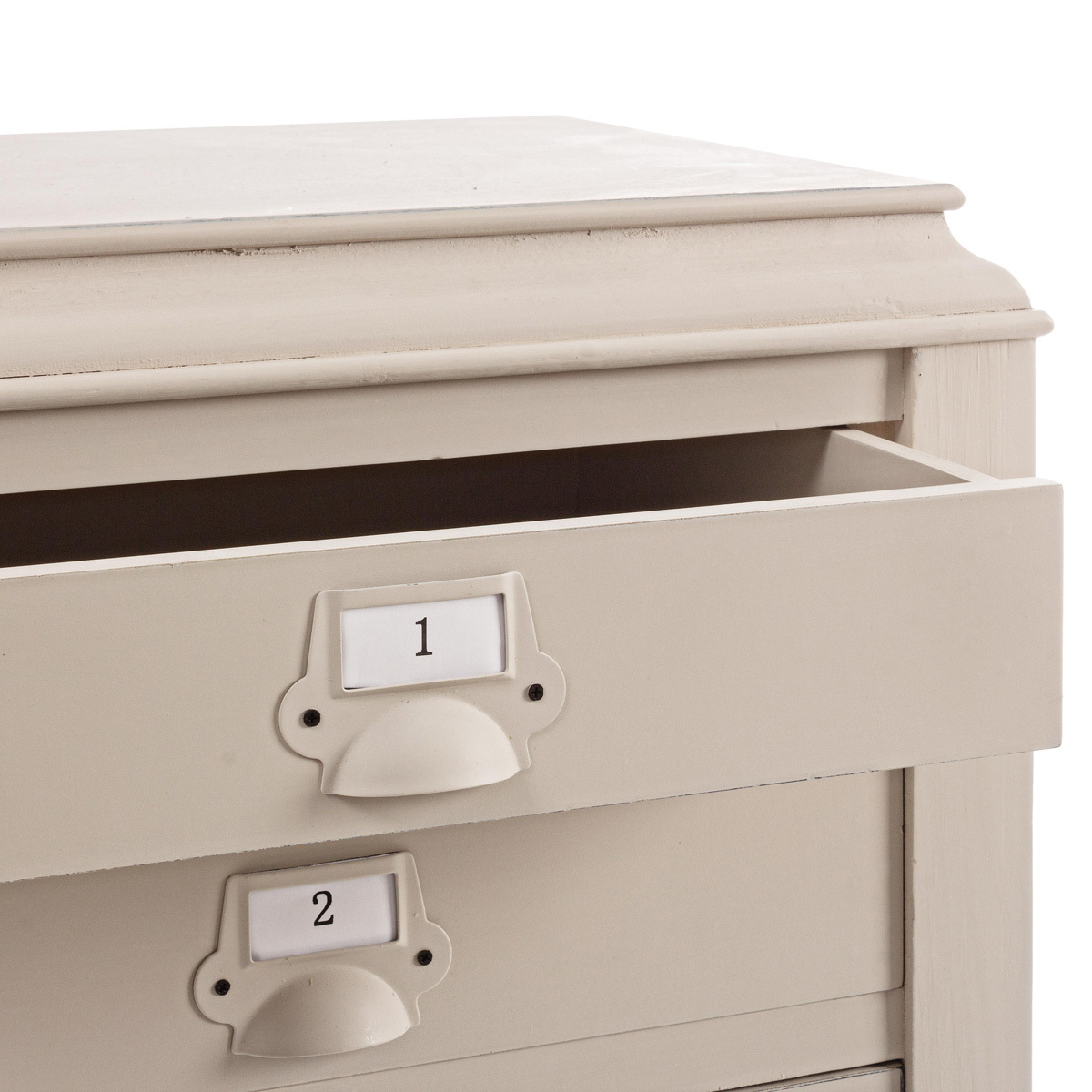Photos 5: Bizzotto Door lamp in wood l. 49 x 36 with 3 drawers 0745266