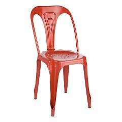 Bizzotto 0746009 Stackable metal chair - red Droid