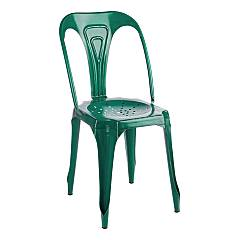 Bizzotto 0746010 Stackable metal chair - green Droid