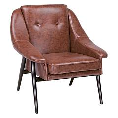 Bizzotto 0746114 - Magnum Armchair in metal and synthetic leather - dark orange vintage