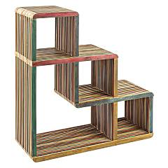 Bizzotto 0745041 - Leo Mobile wooden ladder 3 steps