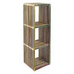 Bizzotto 0745037 Bookcase with 3 shelves in recycled wood Leo