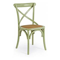 Bizzotto 0743228 Wooden chair - green Cross