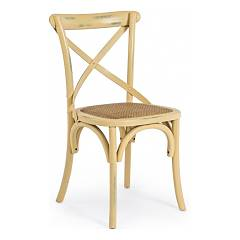 Bizzotto 0743229 Wooden chair - ocra Cross