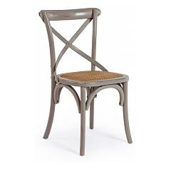 Bizzotto 0743227 Wooden chair - dark gray Cross