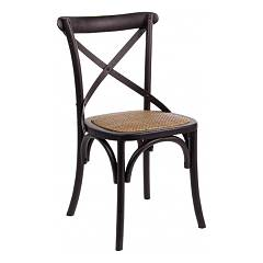 Bizzotto 0743234 Wooden chair - black Cross