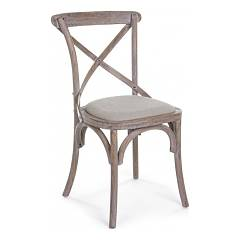 Bizzotto 0743252 Wooden chair with upholstered sitting Nadine