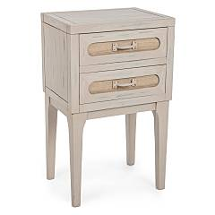 Bizzotto 0745840 2-drawer wooden cabinet Edison