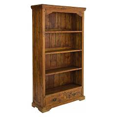 Bizzotto 0742740 Wood bookcase with 4 shelves and 2 drawers Chateaux
