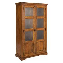 Bizzotto 0742739 2 door wood showcase Chateaux Big
