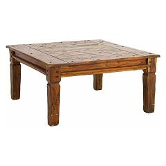 Bizzotto 0742749 Square wooden coffee table cm 90x90 Chateaux