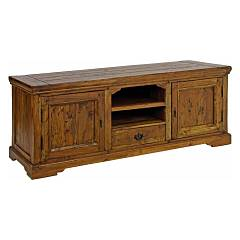 Bizzotto 0742736 - Chateaux Tv door wood with 2 doors and 1 drawer