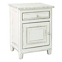 Bizzotto 0745085 Wooden bedside with 1 door left and 1 left drawer Colette