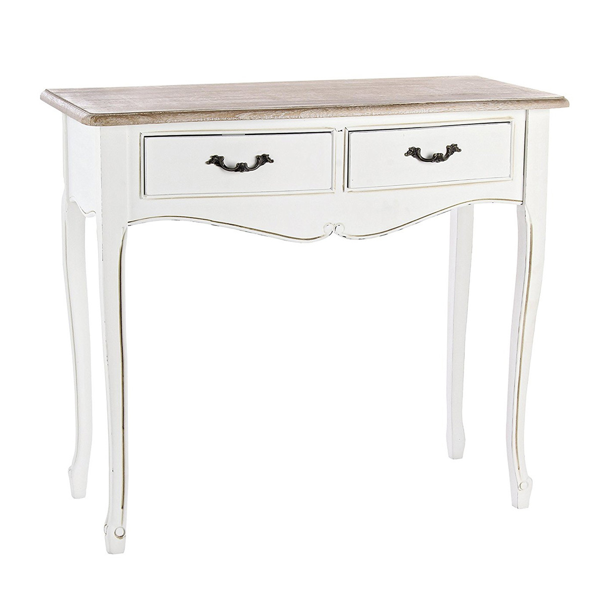 Photos 1: Bizzotto Fixed wood console l. 90 x 40 with 2 drawers 0745828