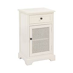 Bizzotto 0745372 Wooden bedside with 1 door and 1 drawer Amabel