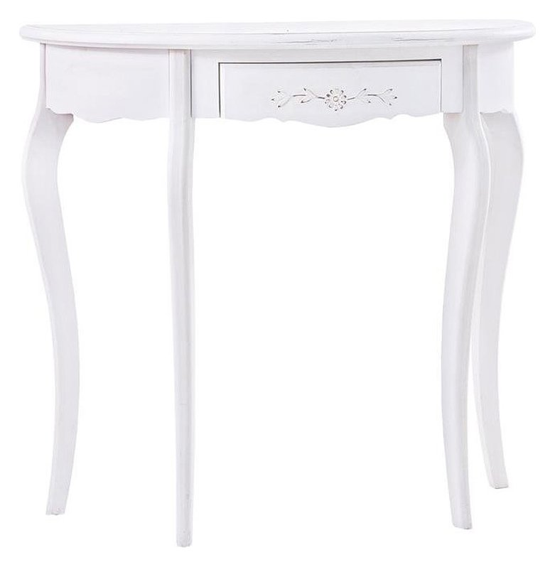 Photos 1: Bizzotto 0744403 Daisy Fixed console in wood l. 80 x 39 with 1 drawer