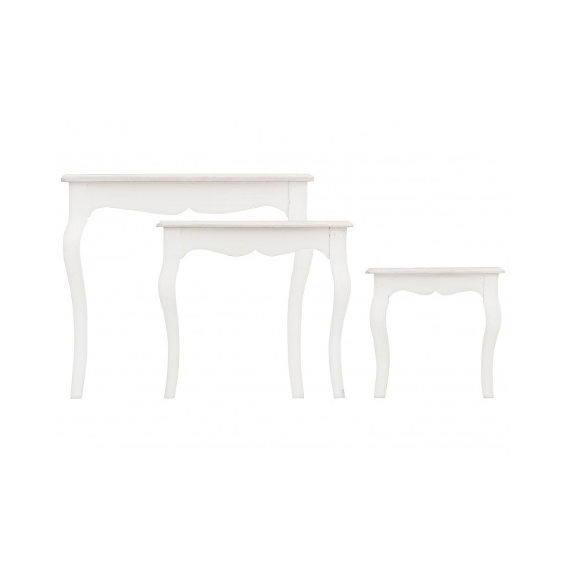 Photos 2: Bizzotto Set 3 wooden tables 0744527