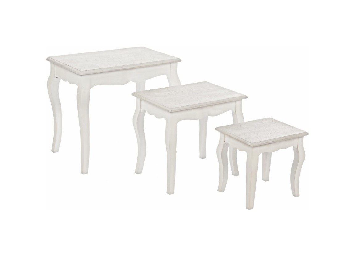 Photos 1: Bizzotto Set 3 wooden tables 0744527