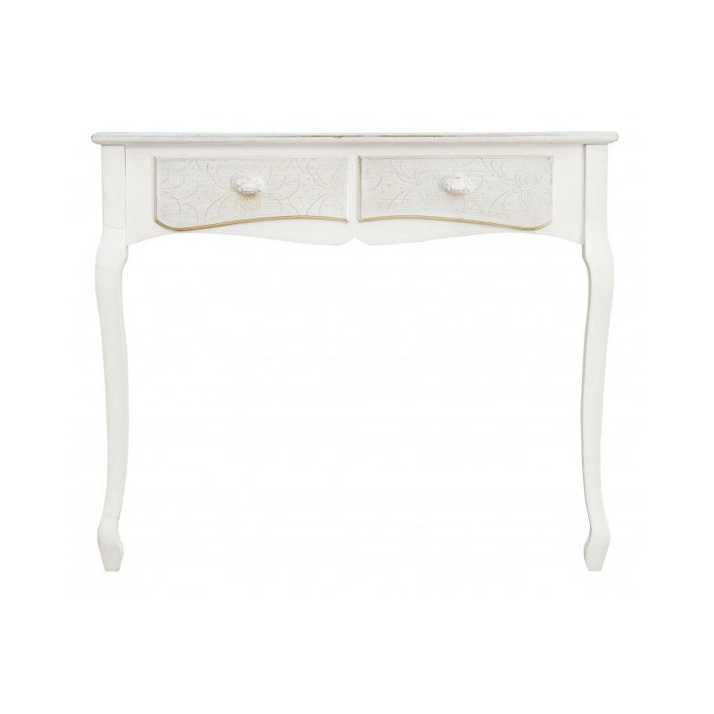 Photos 2: Bizzotto Fixed wood console l. 90 x 40 with 2 drawers 0744528
