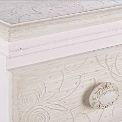 Photos 4: Bizzotto 0744528 Clorine Fixed wood console l. 90 x 40 with 2 drawers