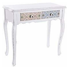 Bizzotto 0744533 Fixed console in wood l. 80 x 40 with 2 drawers Leila